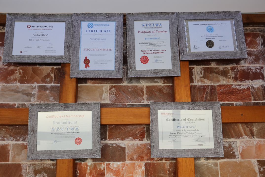 Certificate(s) of registration to provide service(s) at Salt Cave Halotherapy & Wellness Centre